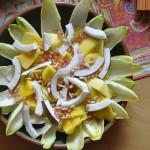 Chicorée zu Salat verarbeitet